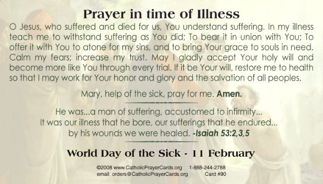 Prayer for Someone Sick